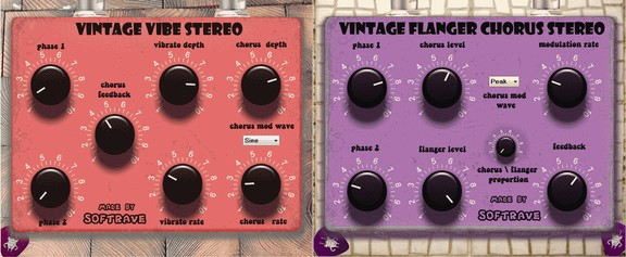 Softrave Vintage Vibe / Flanger Chorus