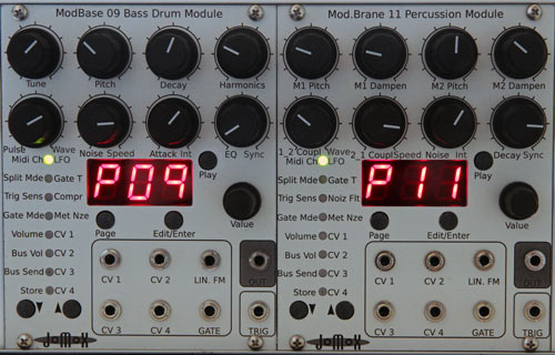 Jomox ModBase Eurorack drum modules