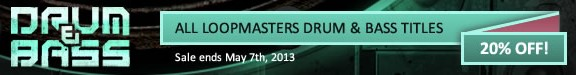 Drum & Bass Sale at Loopmasters