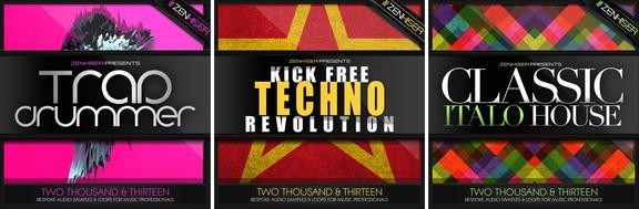Zenhiser Classic Italo House, Kick Free Techno Revolution & Trap Drummer