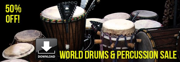 50% off World Drums & Percussion sample packs