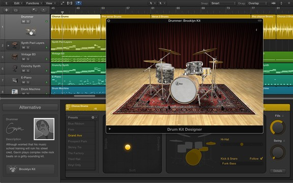 Logic Pro X Drummer / Drum Kit Designer