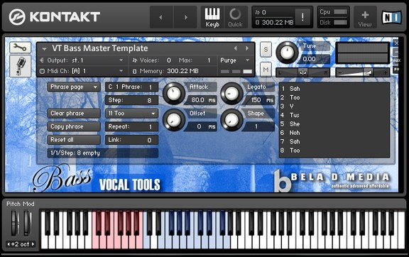 Bela D Media Vocal Tools Bass