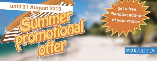 Pianoteq Summer promo
