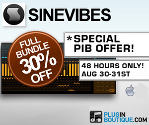 30% off Sinevibes at Plugin Boutique