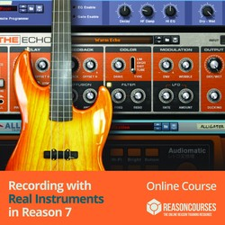 Producertech Recording with real instruments in Reason 7