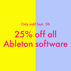 25% off at Ableton