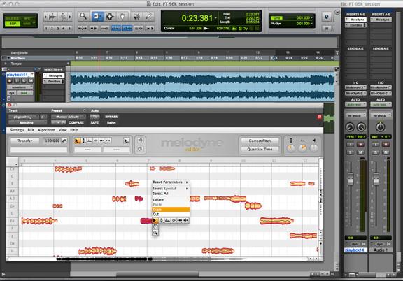 Celemony Melodyne in Pro Tools 11