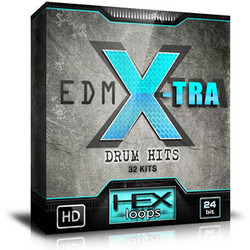Hex Loops EDM X-Tra Drum Hits