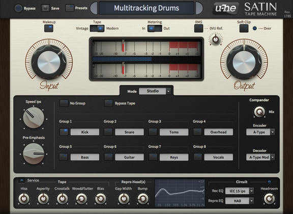 u-he Satin Tape Machine