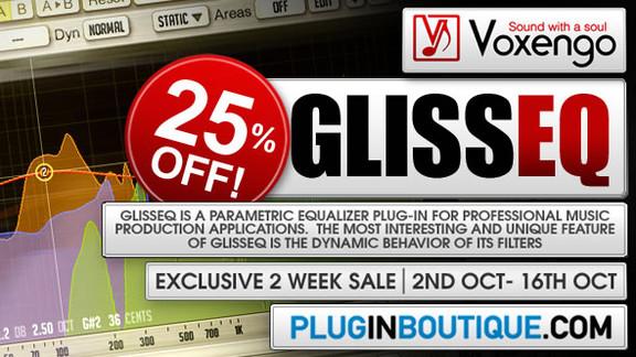 Voxengo GlissEQ 25% off