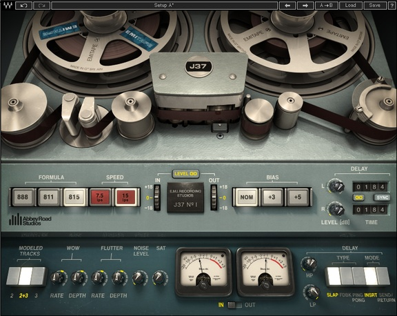 Waves J37 Tape saturation plugin