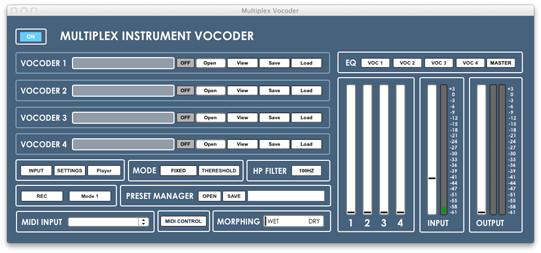 Audiomeals Multiplex Vocoder