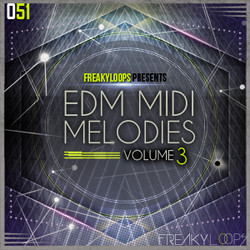Freaky Loops EDM MIDI Melodies Vol 3
