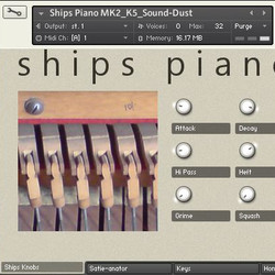 Sound Dust Ships Piano Mk2