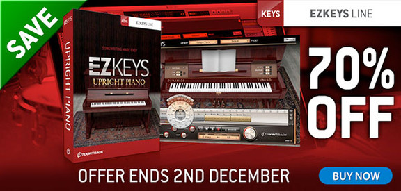 Toontrack EZkeys Upright Piano 70% off