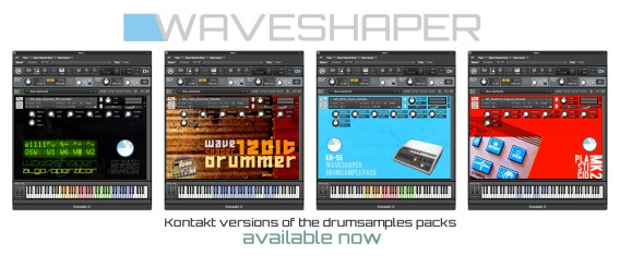 Waveshaper sample packs for Kontakt