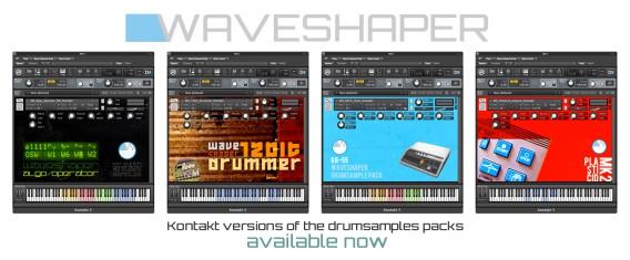 Waveshaper sample packs for Kontakt