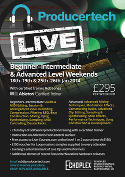 Producertech Ableton Live Training Weekends