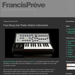 Moog Sub Phatty at Francis Prève