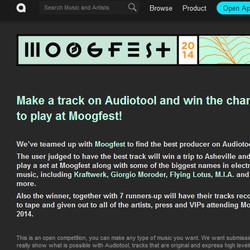 Moogfest Audiotool Competition