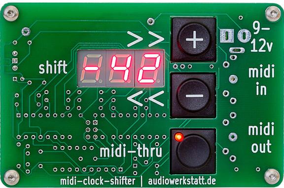 Audiowerkstatt midi-clock-shifter