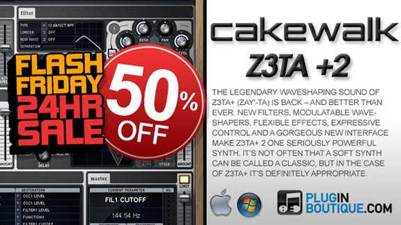 Cakewalk Z3TA+2 50% off