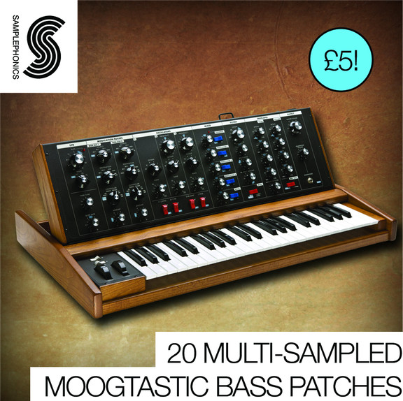 Samplephonics 20 Multi-Sampled Moogtastic Bass Patches