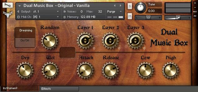 FrozenPlain Dual Music Box