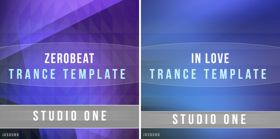 Jksound Zerobeat and In Love Studio One Templates