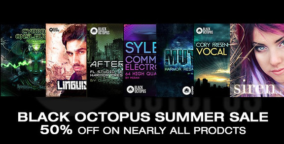 Black Octopus Summer Sale