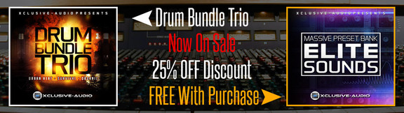 Xclusive-Audio Drum Bundle TRIO deal