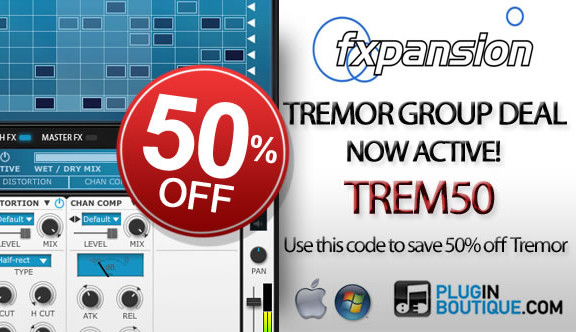 50% off FXpansion Tremor