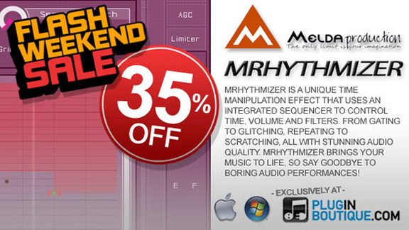 35% off MeldaProduction MRhythmizer