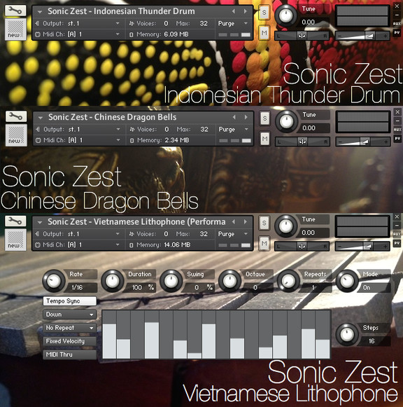 Sonic Zest Asian Thunder, Stones and Dragons