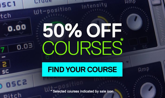 50% off courses at ADSR Sounds