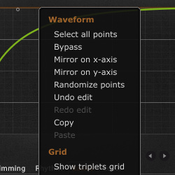VolumeShaper 4 waveform editing