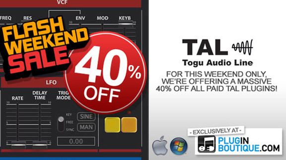 40% off TAL plugins