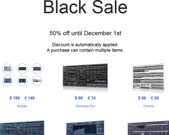 discoDSP Black Sale