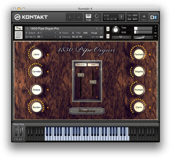 Wavesfactory 1850 Pipe Organ Pro