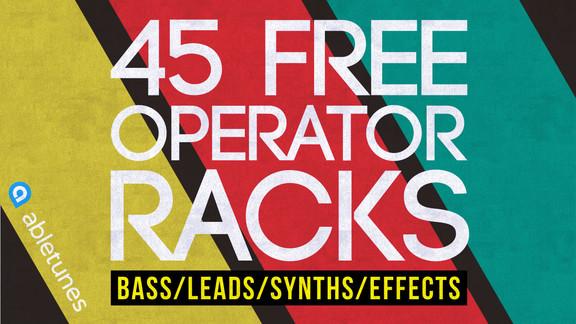 Abletunes 45 Free Operator Racks