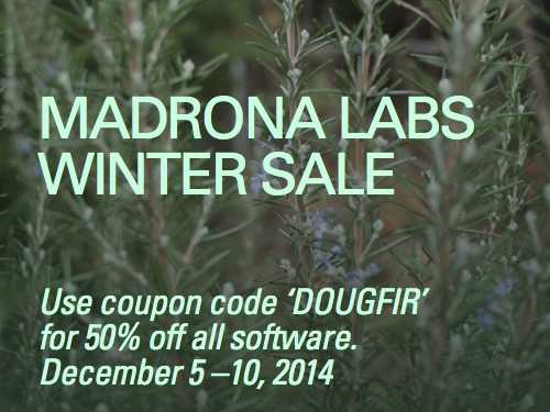 Madrona Labs Winter Sale