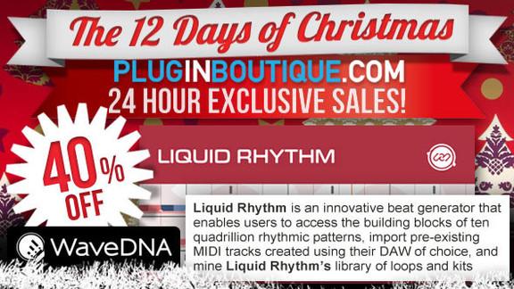 40% off WaveDNA Liquid Rhythm at Plugin Boutique