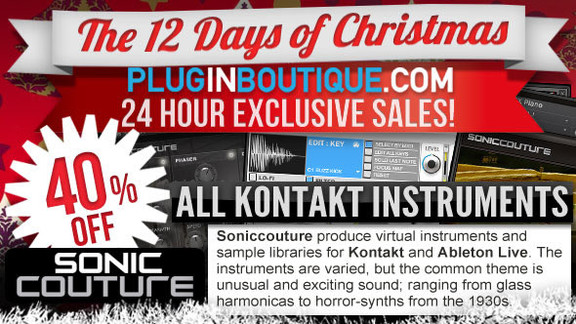 40% off Soniccouture at Plugin Boutique