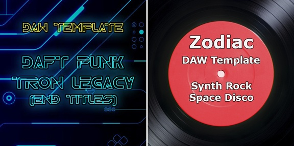 Reveal Sound Daft Punk TRON & Zodiac DAW templates