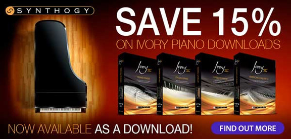 15% off Synthogy Ivory II at Time+Space