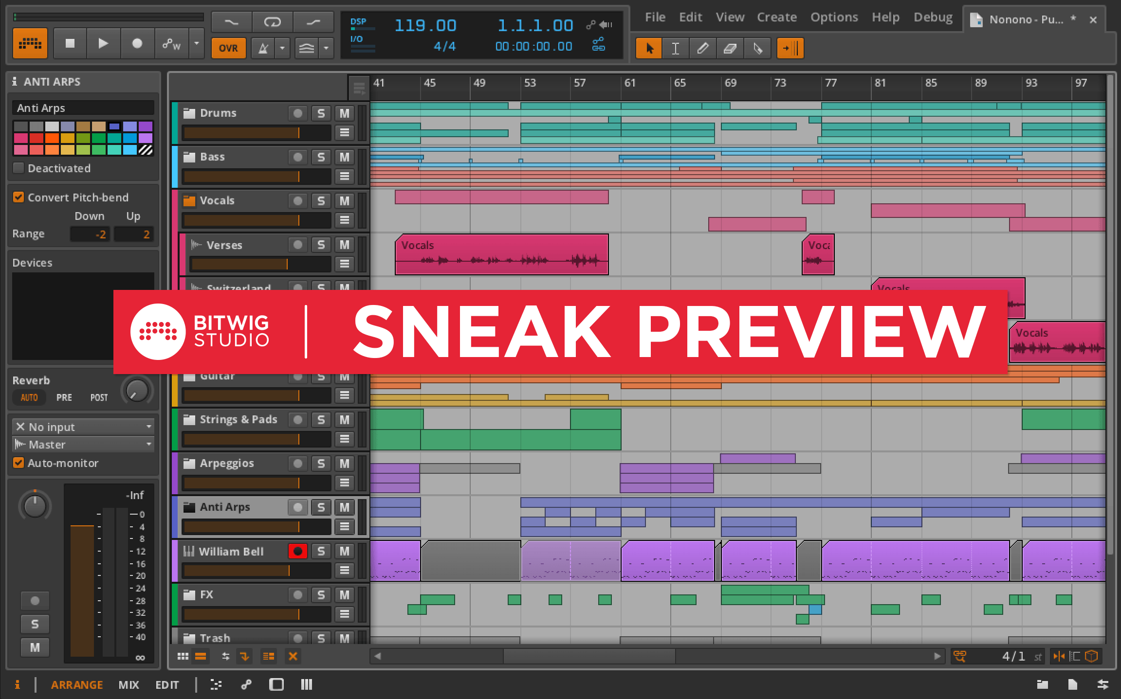 Bitwig Studio 1.2 sneak preview