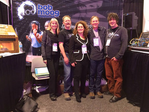 Bob Moog Foundation booth at last year's NAMM Show