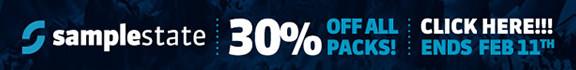 30% off Samplestate packs