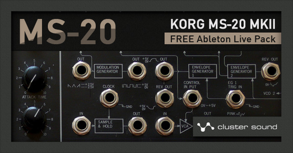 Cluster Sound MS-20 Live Pack